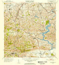 Aguas Buenas Puerto Rico Historical topographic map, 1:30000 scale, 7.5 X 7.5 Minute, Year 1952
