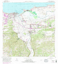 Arecibo Puerto Rico Historical topographic map, 1:20000 scale, 7.5 X 7.5 Minute, Year 1964