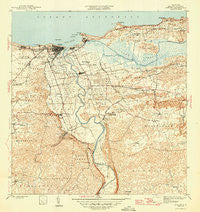 Arecibo Puerto Rico Historical topographic map, 1:30000 scale, 7.5 X 7.5 Minute, Year 1946