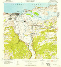 Arecibo Puerto Rico Historical topographic map, 1:30000 scale, 7.5 X 7.5 Minute, Year 1953
