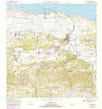Barceloneta Puerto Rico Historical topographic map, 1:20000 scale, 7.5 X 7.5 Minute, Year 1969