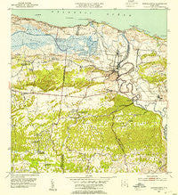 Barceloneta Puerto Rico Historical topographic map, 1:30000 scale, 7.5 X 7.5 Minute, Year 1953