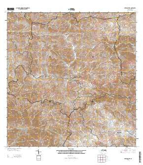 Barranquitas Puerto Rico Historical topographic map, 1:20000 scale, 7.5 X 7.5 Minute, Year 2013