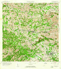 Barranquitas Puerto Rico Historical topographic map, 1:20000 scale, 7.5 X 7.5 Minute, Year 1957