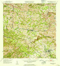 Barranquitas Puerto Rico Historical topographic map, 1:30000 scale, 7.5 X 7.5 Minute, Year 1953