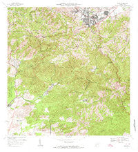 Cayey Puerto Rico Historical topographic map, 1:20000 scale, 7.5 X 7.5 Minute, Year 1972