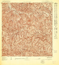 Central La Plata NO Puerto Rico Historical topographic map, 1:10000 scale, 3.75 X 3.75 Minute, Year 1950