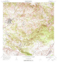 Coamo Puerto Rico Historical topographic map, 1:20000 scale, 7.5 X 7.5 Minute, Year 1972