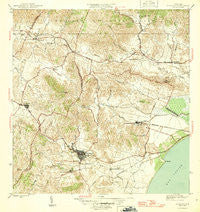 Humacao Puerto Rico Historical topographic map, 1:30000 scale, 7.5 X 7.5 Minute, Year 1946