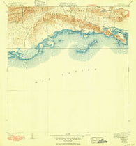Parguera Puerto Rico Historical topographic map, 1:30000 scale, 7.5 X 7.5 Minute, Year 1938