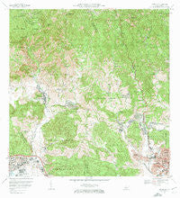 Penuelas Puerto Rico Historical topographic map, 1:20000 scale, 7.5 X 7.5 Minute, Year 1972