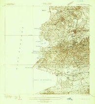 Puerto Real Puerto Rico Historical topographic map, 1:25000 scale, 7.5 X 7.5 Minute, Year 1937