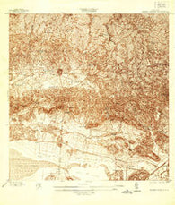 Sabana Grande Puerto Rico Historical topographic map, 1:25000 scale, 7.5 X 7.5 Minute, Year 1937