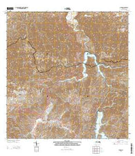 Utuado Puerto Rico Historical topographic map, 1:20000 scale, 7.5 X 7.5 Minute, Year 2013