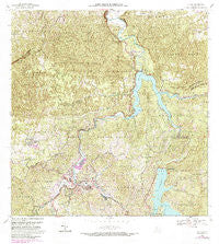 Utuado Puerto Rico Historical topographic map, 1:20000 scale, 7.5 X 7.5 Minute, Year 1972
