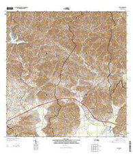 Yauco Puerto Rico Historical topographic map, 1:20000 scale, 7.5 X 7.5 Minute, Year 2013