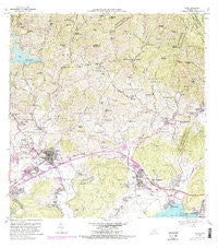 Yauco Puerto Rico Historical topographic map, 1:20000 scale, 7.5 X 7.5 Minute, Year 1966