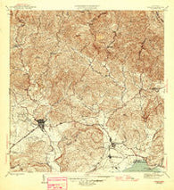 Yauco Puerto Rico Historical topographic map, 1:30000 scale, 7.5 X 7.5 Minute, Year 1946