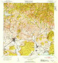 Yauco Puerto Rico Historical topographic map, 1:30000 scale, 7.5 X 7.5 Minute, Year 1952