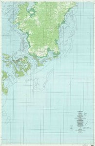 Oreor Republic of Palau Historical topographic map, 1:25000 scale, 7.5 X 7.5 Minute, Year 1983
