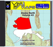 Buy digital map disk YellowMaps U.S. Topo Maps Vol. 43 - Alaska North from Alaska Maps Store