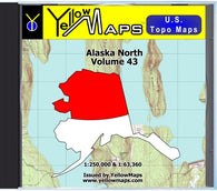 Buy digital map disk YellowMaps U.S. Topo Maps Vol. 43 - Alaska North
