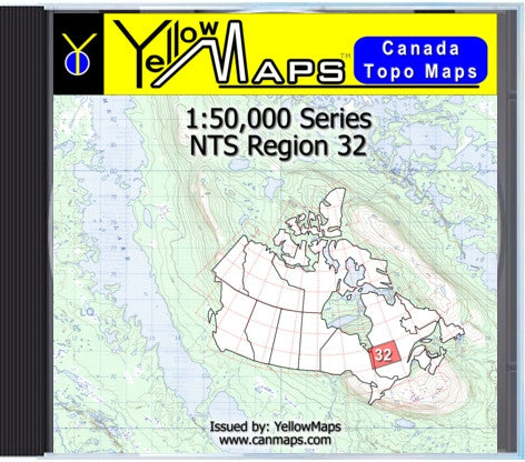Buy digital map disk YellowMaps Canada Topo Maps: NTS Regions 32