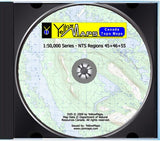 YellowMaps Canada Topo Maps: NTS Regions 45+46+55