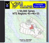 Buy digital map disk YellowMaps Canada Topo Maps: NTS Regions 45+46+55