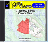 Buy digital map disk YellowMaps Canada Topo Maps: Canada West