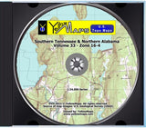 YellowMaps U.S. Topo Maps Volume 33 (Zone 16-4) Southern Tennessee & Northern Alabama
