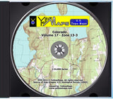 YellowMaps U.S. Topo Maps Volume 17 (Zone 13-3) Colorado