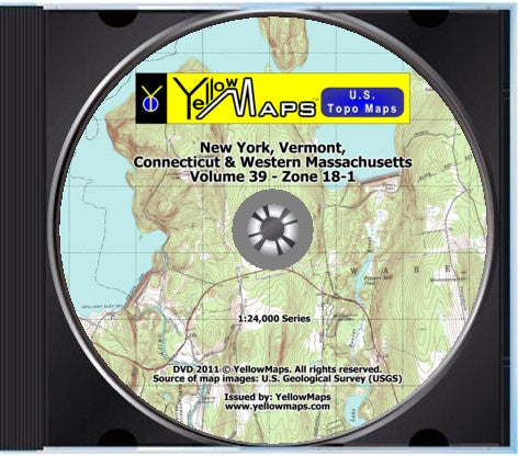 Buy digital Topo Maps New York Vermont CT MA YellowMaps Map Store