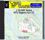 Buy digital map disk YellowMaps Canada Topo Maps: NTS Regions 62+72 from Saskatchewan Maps Store