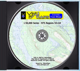 YellowMaps Canada Topo Maps: NTS Regions 54+64