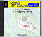Buy digital map disk YellowMaps Canada Topo Maps: NTS Regions 54+64 from Manitoba Maps Store