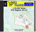 Buy digital map disk YellowMaps Canada Topo Maps: NTS Regions 30+31 from Ontario Maps Store