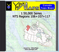 Buy digital map disk YellowMaps Canada Topo Maps: NTS Regions 106+107+117