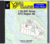 Buy digital map disk YellowMaps Canada Topo Maps: NTS Regions 86