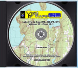 YellowMaps U.S. Topo Maps Volume 35 (Zone 17-1) Lake Erie & Area (MI, OH, PA, NY)