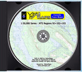 YellowMaps Canada Topo Maps: NTS Regions 92+102+103