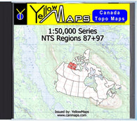 Buy digital map disk YellowMaps Canada Topo Maps: NTS Regions 87+97