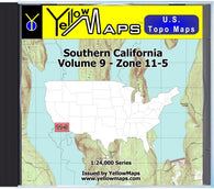 Buy digital map disk YellowMaps U.S. Topo Maps Volume 9 (Zone 11-5) Southern California