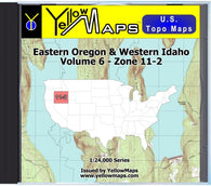 Buy digital map disk YellowMaps U.S. Topo Maps Volume 6 (Zone 11-2) Eastern Oregon & Western Idaho