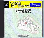 Buy digital map disk YellowMaps Canada Topo Maps: NTS Regions 66 from Nunavut Maps Store