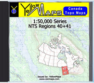 Buy digital map disk YellowMaps Canada Topo Maps: NTS Regions 40+41