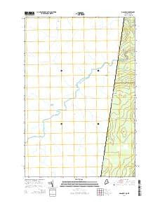 Daaquam Quebec Current topographic map, 1:24000 scale, 7.5 X 7.5 Minute, Year 2014