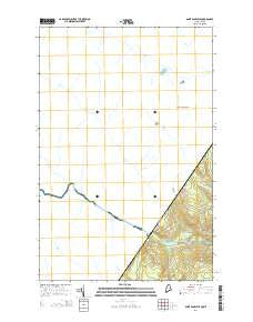 Saint Pamphile Quebec Current topographic map, 1:24000 scale, 7.5 X 7.5 Minute, Year 2014
