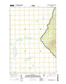 Saint Zacharie North Quebec Current topographic map, 1:24000 scale, 7.5 X 7.5 Minute, Year 2014