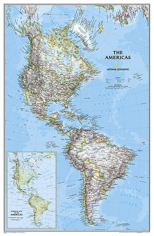 Buy map Americas Classic, Sleeved by National Geographic Maps